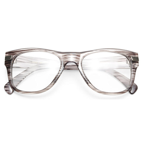 e8d084d6b98 Augustine Large Clear Horn Rimmed Glasses