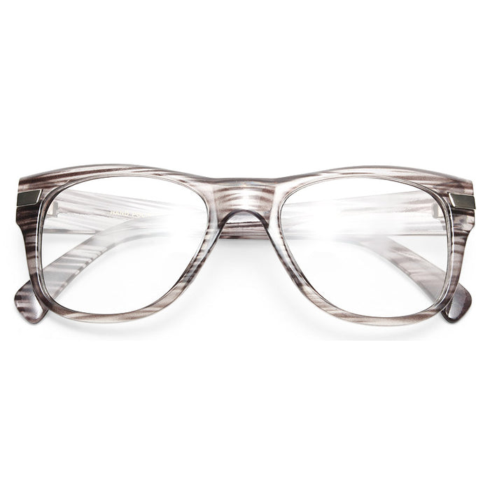 Augustine Large Clear Horn Rimmed Glasses