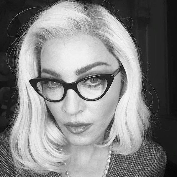 Madonna Style Cat Eye Clear Glasses