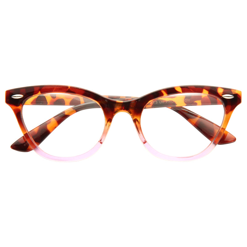 Emma Gradient Frame Cat Eye Clear Glasses