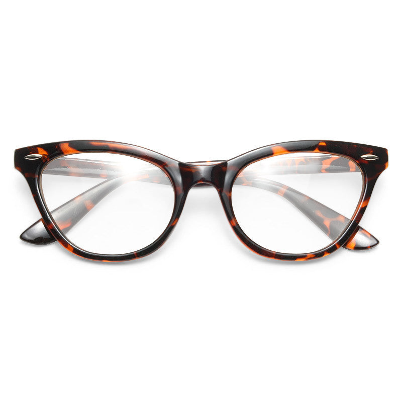 Emma Stone Style Solid Frame Cat Eye Celebrity Clear Glasses