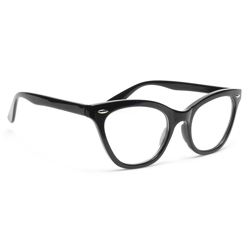 Emma Solid Frame Clear Frame Clear Cat Eye Glasses