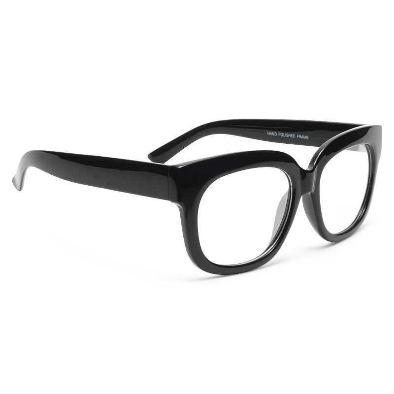 Conway Rounded Clear Horn Rimmed Glasses