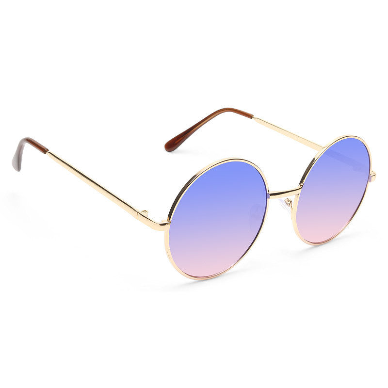 Mary Kate Split Tint 90s Round Sunglasses