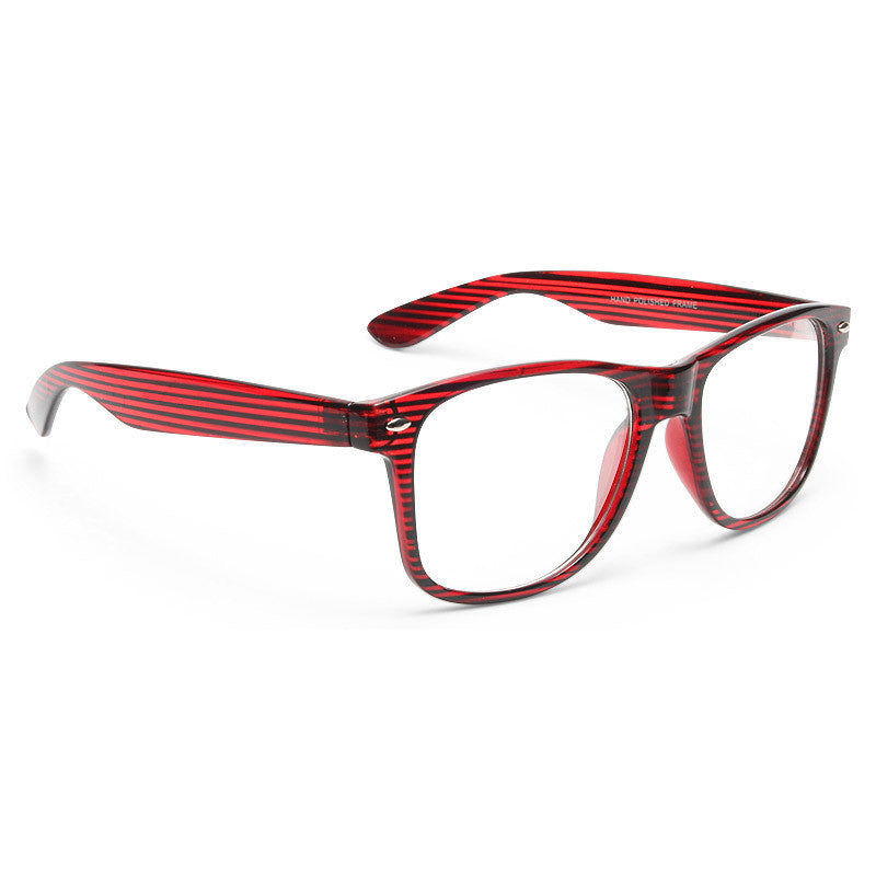 Jude Large Transparent Wood Grain Clear Horn Rimmed Glasses