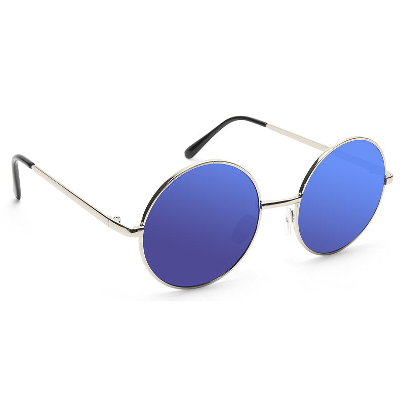 Mary Kate Color Mirror Round Metal Sunglasses