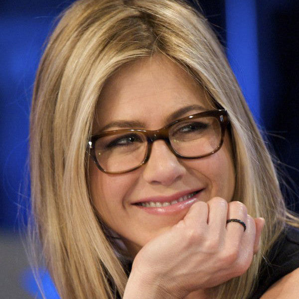 Jennifer Aniston Style Skinny Squared Celebrity Clear Glasses