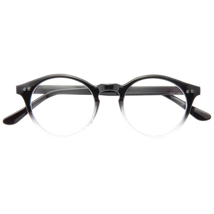 Newcastle Unisex Rounded Clear Glasses