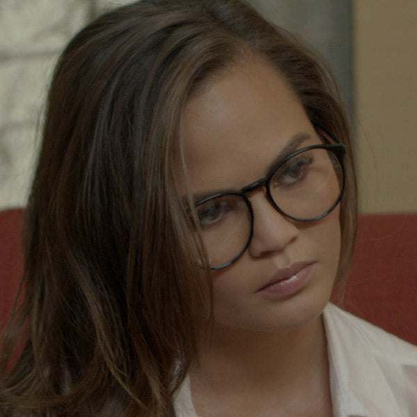 Chrissy Teigen Style Unisex Rounded Celebrity Clear Glasses