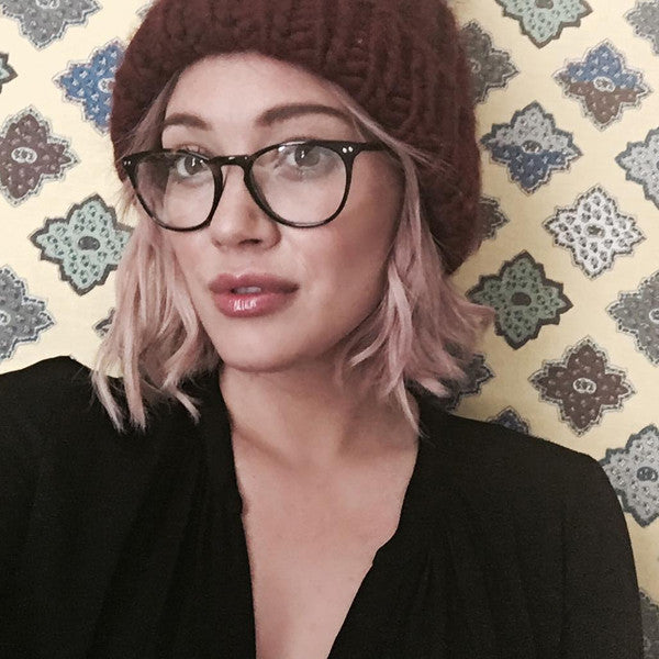 Hilary Duff Style Unisex Rounded Celebrity Clear Glasses