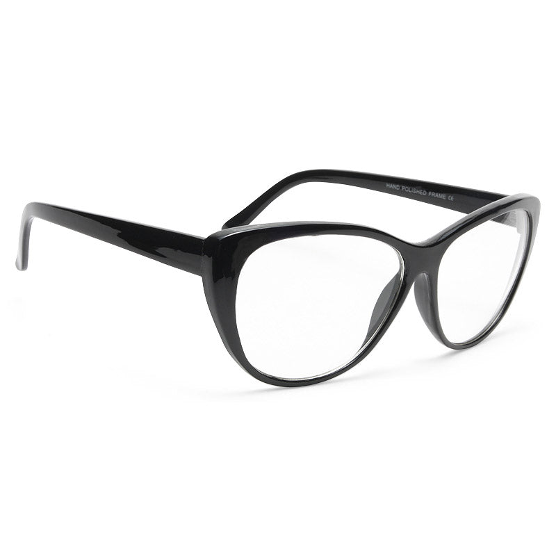Violet Oversized Clear Cat Eye Glasses