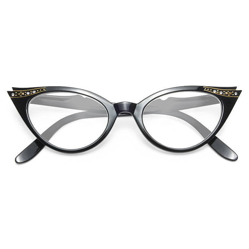 f706b00819 Clear Cat Eye Glasses - Betty Jo Rhinestone Cat Eye Clear Glasses –  CosmicEyewear