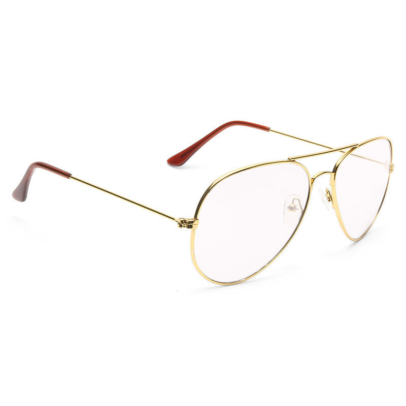 Classic 58mm Sun Sensor Clear Aviator Glasses