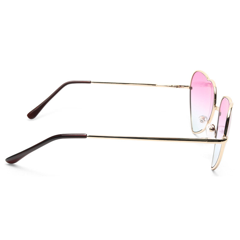 Katy 2 Color Tint Heart Sunglasses