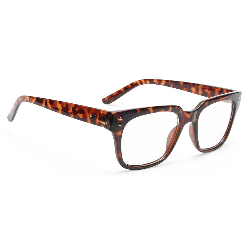 Winchester Unisex Clear Horn Rimmed Glasses