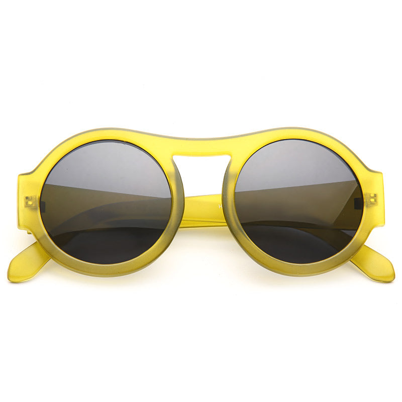 Bunny Retro Round High Bridge Sunglasses