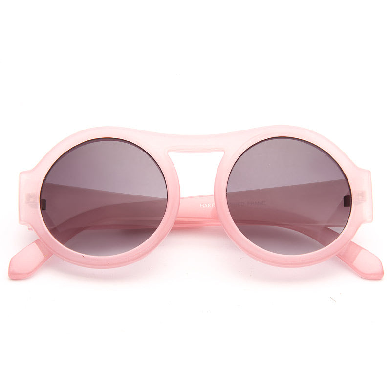 Cara Delevingne Style Retro Round High Bridge Sunglasses