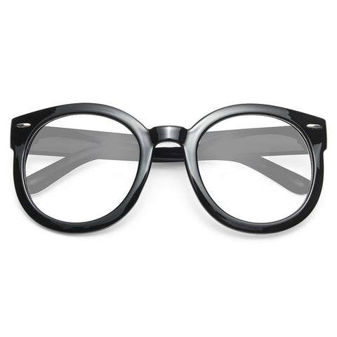 ee71b795ac31 Super Duper Oversized Round Clear Glasses