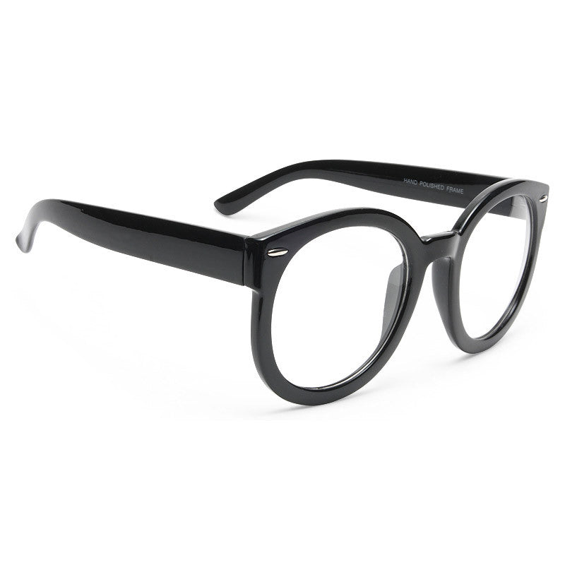 Super Duper Oversized Round Clear Glasses