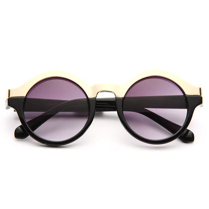 Sienna Round Metal Accent Sunglasses