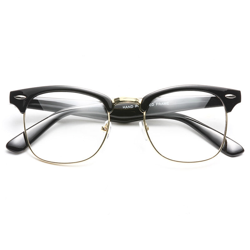 Katy Perry Style Metal Half-Frame Celebrity Clear Glasses ...