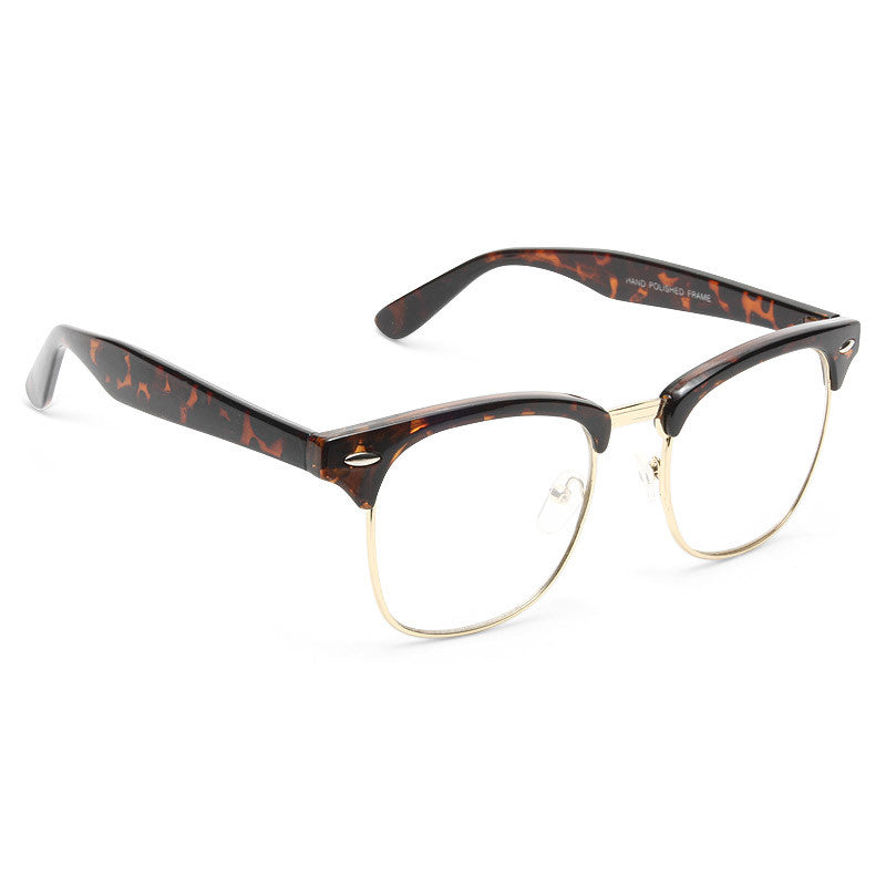 Katy Perry Style Metal Half-Frame Celebrity Clear Glasses