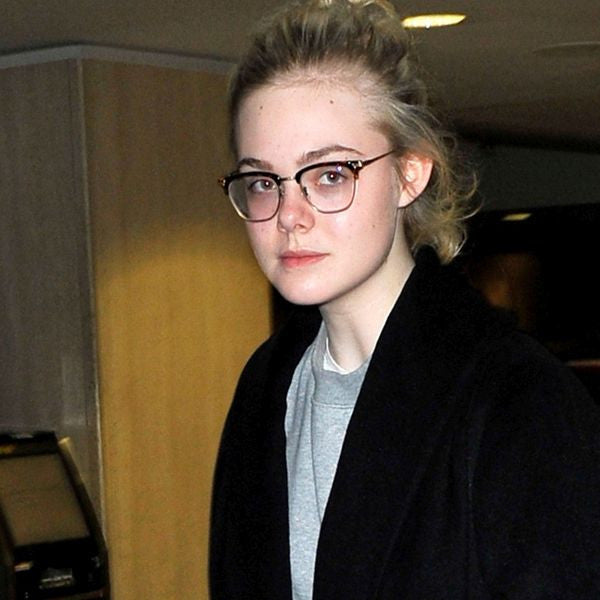 Elle Fanning Style Metal Half Frame Celebrity Clear Glasses