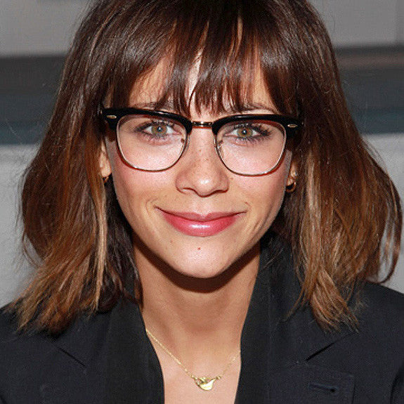 Rashida Jones Style Unisex Metal Clear Celebrity Glasses