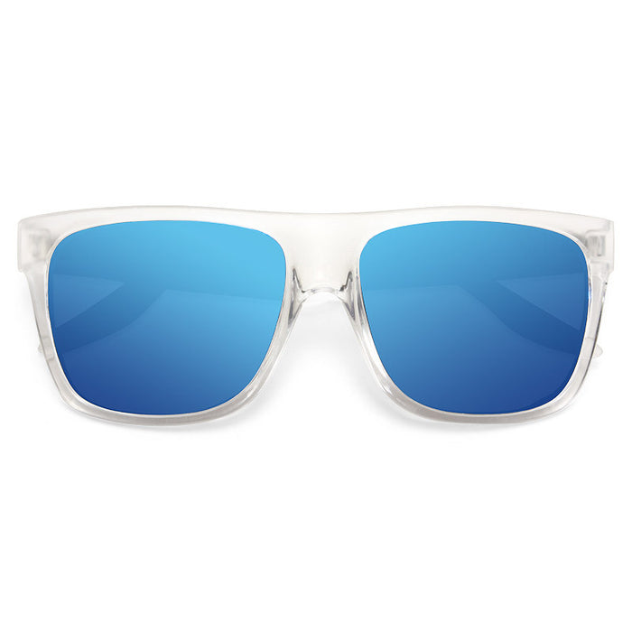 Clayton Unisex Frosted Flat Clear Frame Sunglasses