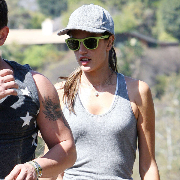 Alessandra Ambrosio Style Unisex Mirror Horn Rimmed Celebrity Sunglasses