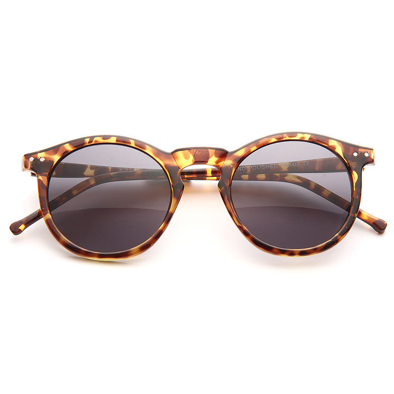 Galway Unisex Rounded Notch Bridge Sunglasses