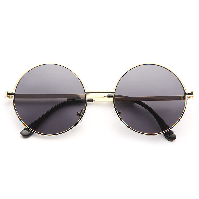 Mary Kate Unisex Round Metal Sunglasses