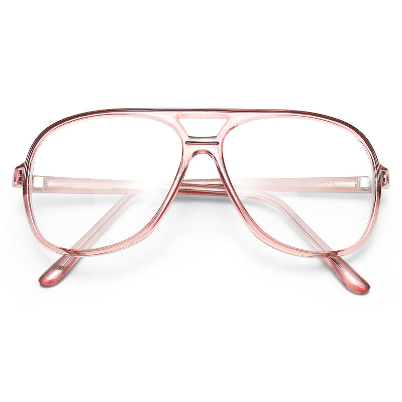 Pete Vintage Clear Aviator Glasses