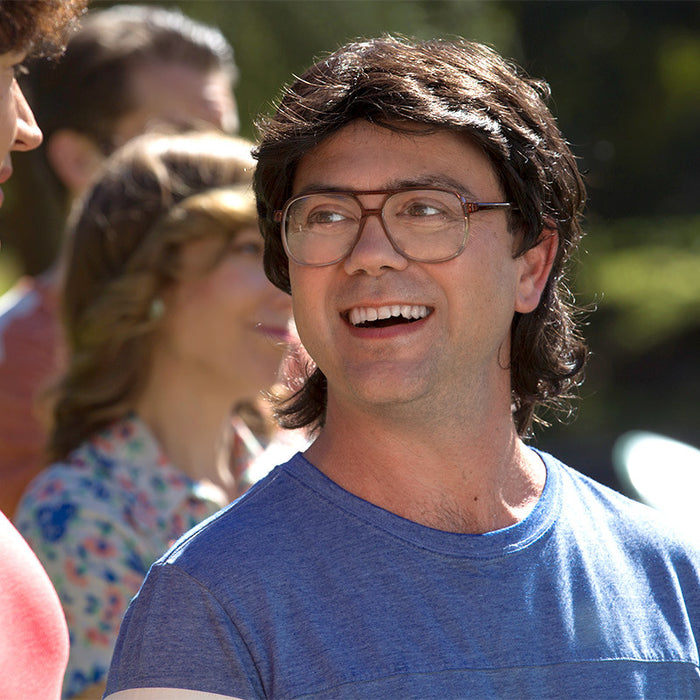 Neil Wet Hot American Summer Clear Aviator Glasses