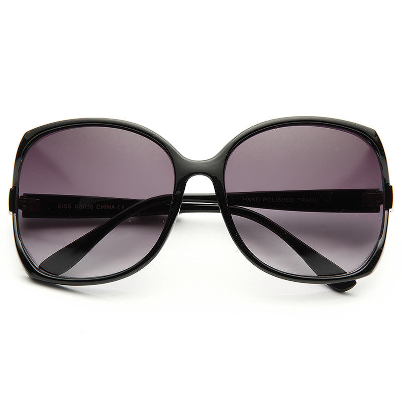 Elia Oversized Gold Accent Sunglasses