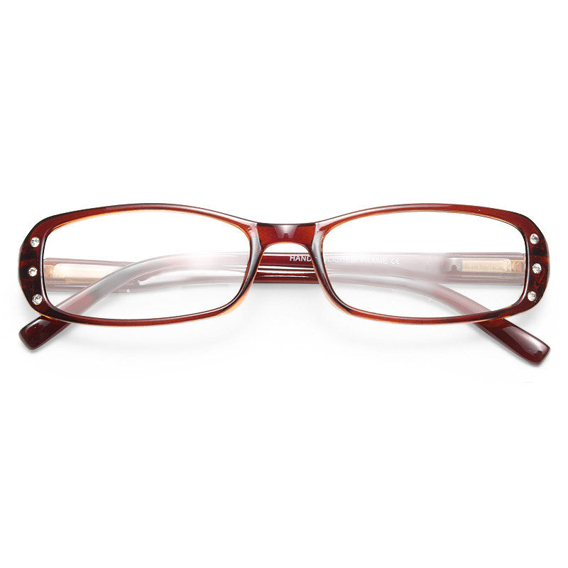 Beatrice Rhinestone Frame Clear Glasses