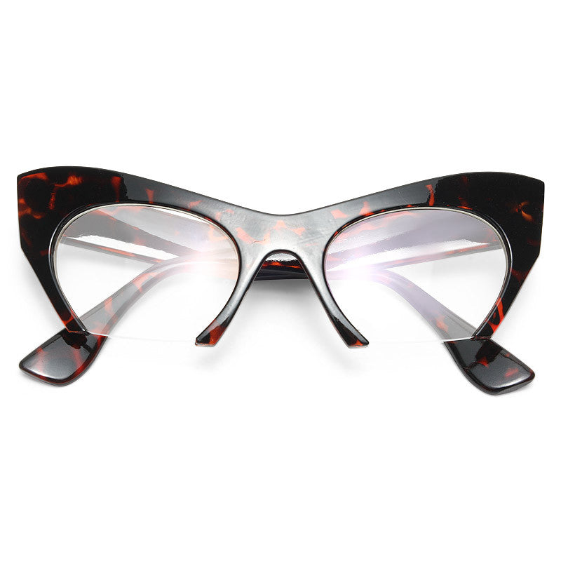 Rasoir Designer Inspired Clear Cat Eye Glasses
