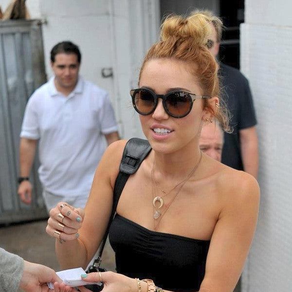 Miley Cyrus Style Oversized Round Sunglasses