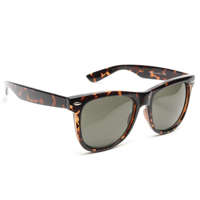 Dakota X-Large G-15 Green Lens Horn Rimmed Sunglasses