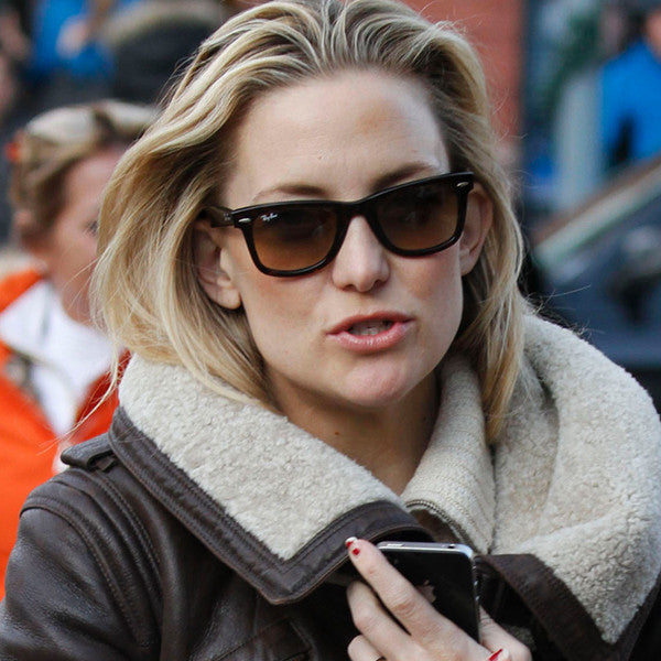Kate Hudson Style Medium Gradient Horn Rimmed Sunglasses