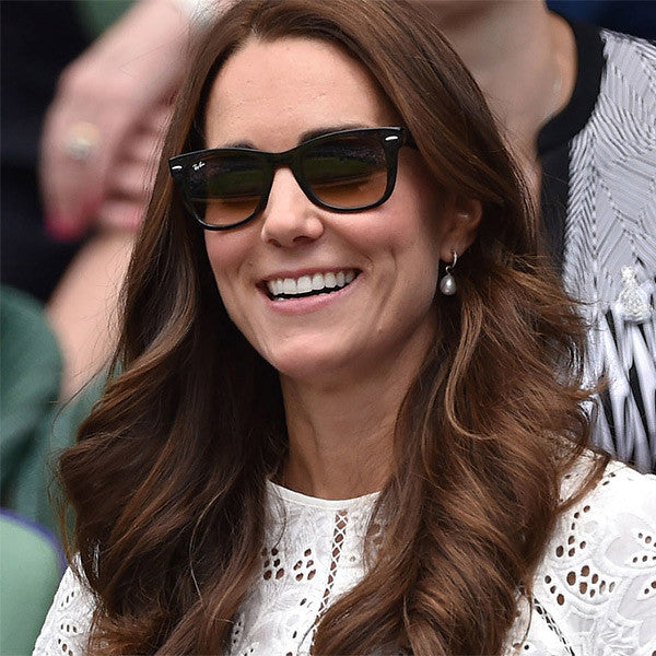 Kate Middleton Style Horn Rimmed Celebrity Sunglasses