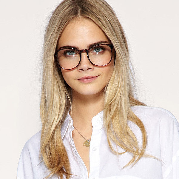 Cara Delevingne Style Round Celebrity Clear Glasses