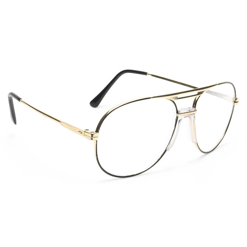 Albert Vintage Clear Aviator Glasses