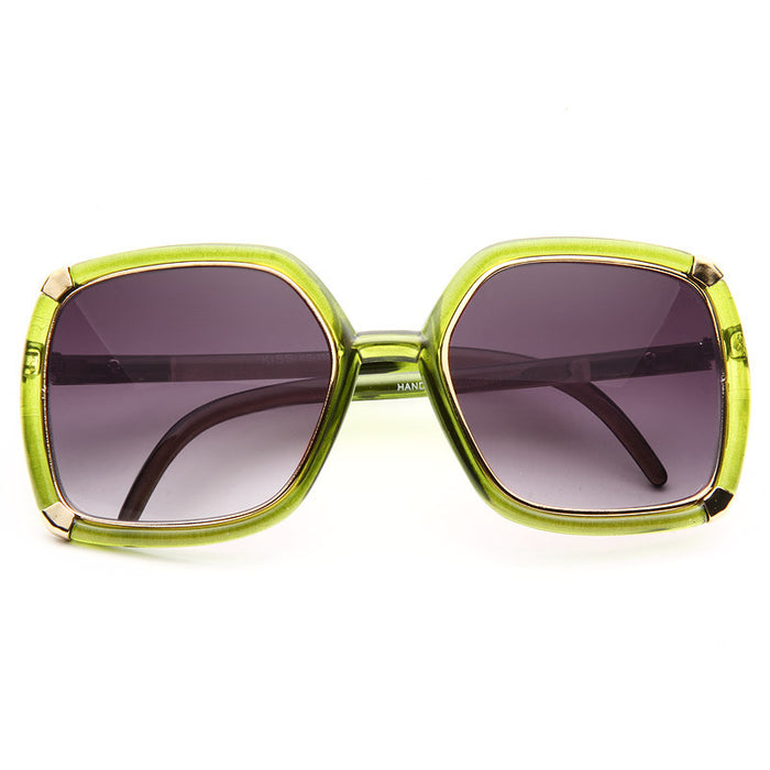 Ellery Designer Inspired Luxe Metal Trim Sunglasses
