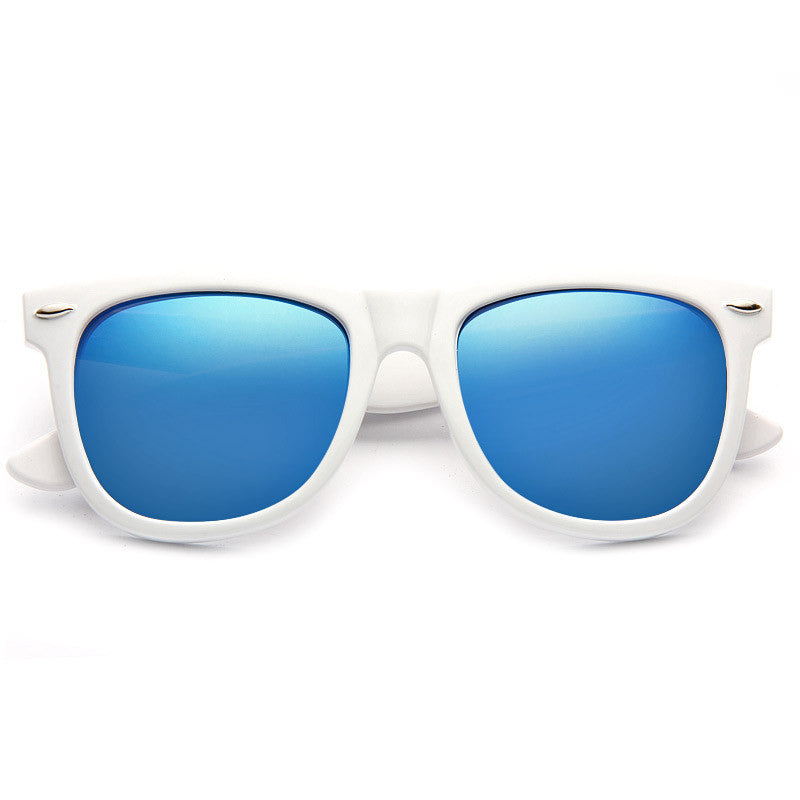 Dakota X Large Color Mirror Horn Rimmed Sunglasses