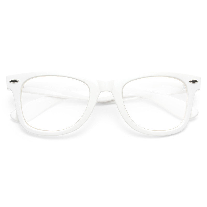 Alexa Chung Style Medium Clear Horn Rimmed Celebrity Glasses