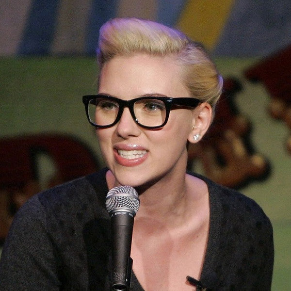 Scarlett Johansson Style Medium Clear Horn Rimmed Glasses
