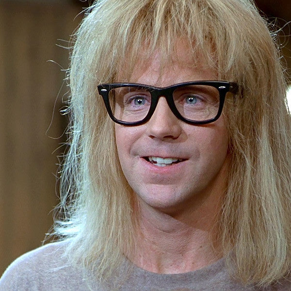 Garth Wayne's World Horn Rimmed Glasses