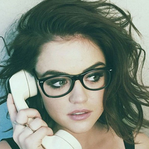 Lucy Hale Style Medium Horn Rimmed Celebrity Clear Glasses
