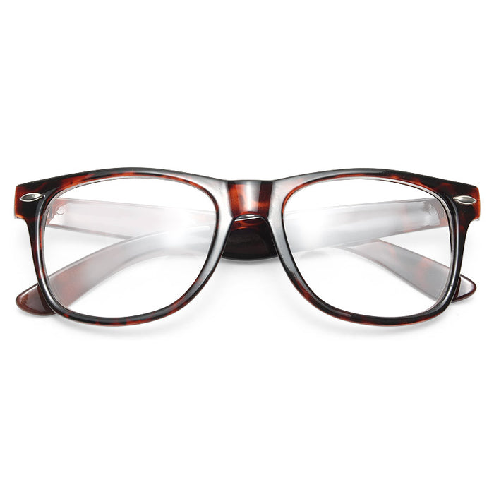 Jude Large Clear Horn Rimmed Glasses